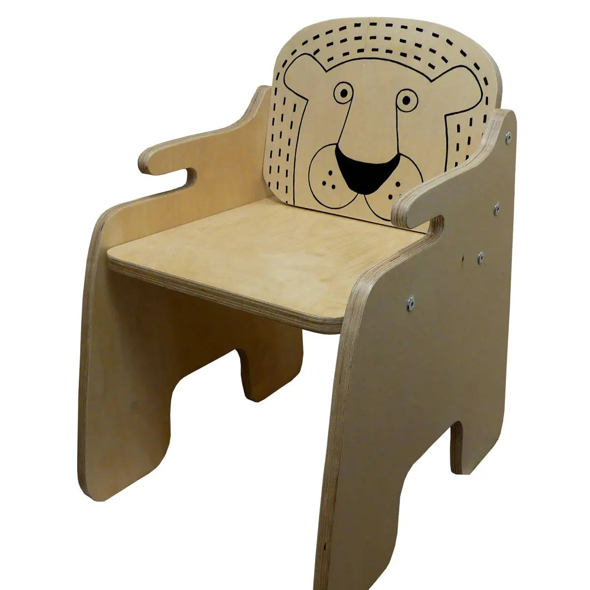Toddler Wooden Chair Lion Chair Quirky Kids Wooden Chair Toddler Chair Safari Nursery Jungle Kids Room Animal Chair Kids Furniture Child Seat Handmade