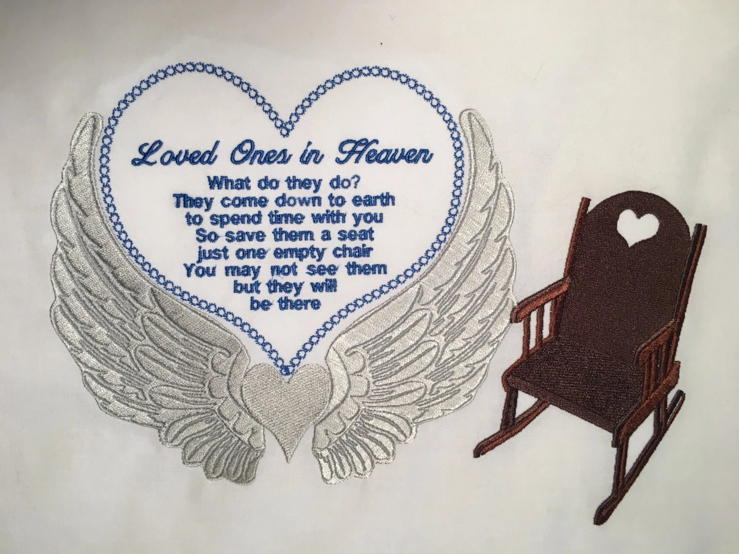 chair design love folding lawn chairs at lowes loved ones in heaven embroidery can be done with 11x8 etsy image 0