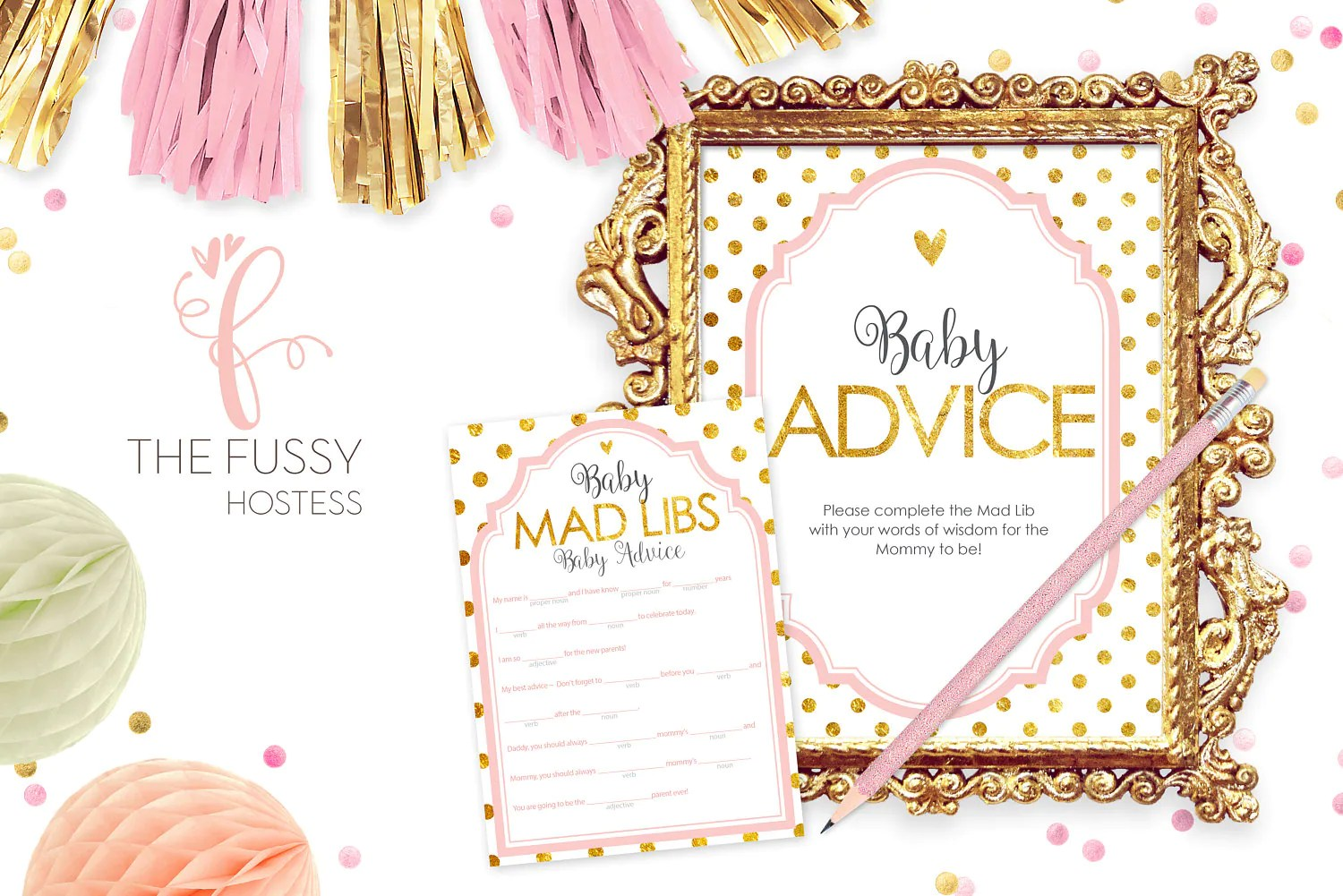 Mad Libs Baby Shower Game Printable Baby Shower Game Baby