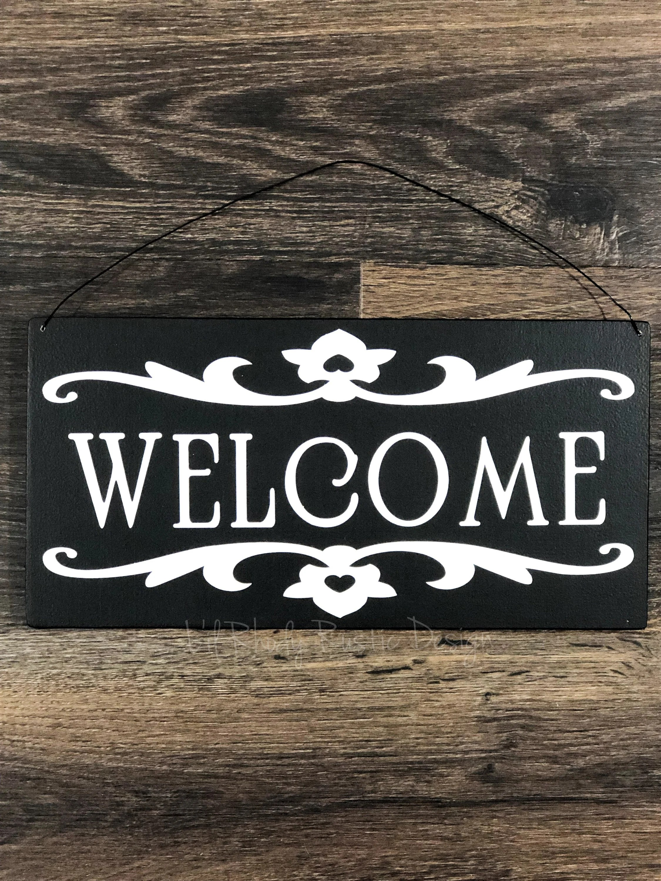welcome sign porch decor