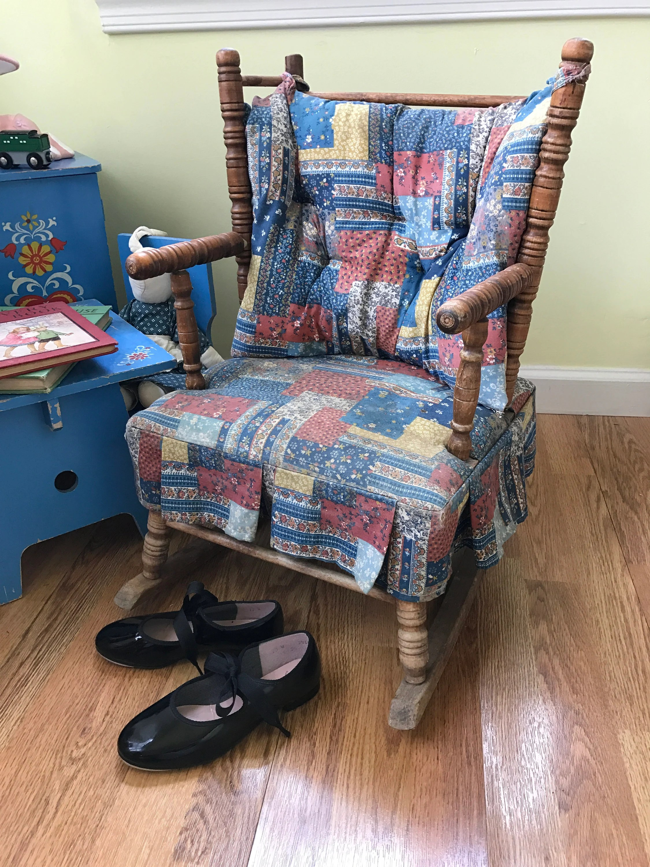 jenny lind rocking chair walmart portable high vintage wood childs turned spool etsy image 0