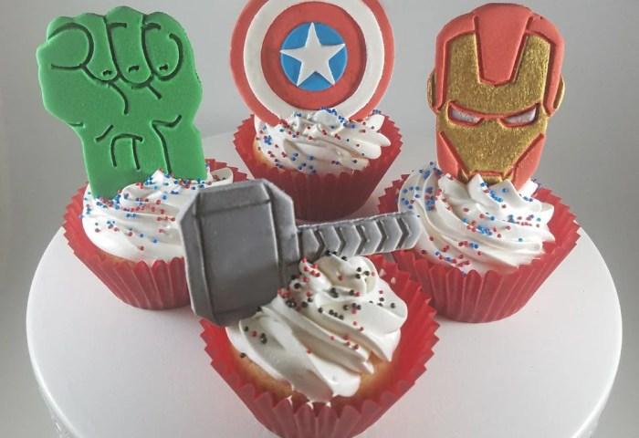 Avengers Cake Toppers Avengers Cupcake Topper Set Superhero Etsy
