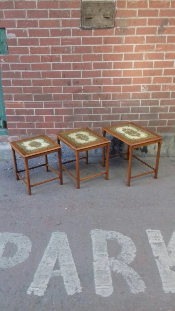 Nest Of Tables Coffee Table Retro Mid Century Modern