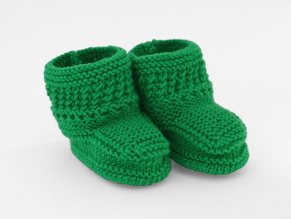 Green Boots Baby Boots Green Socks Christmas Gifts Knitted