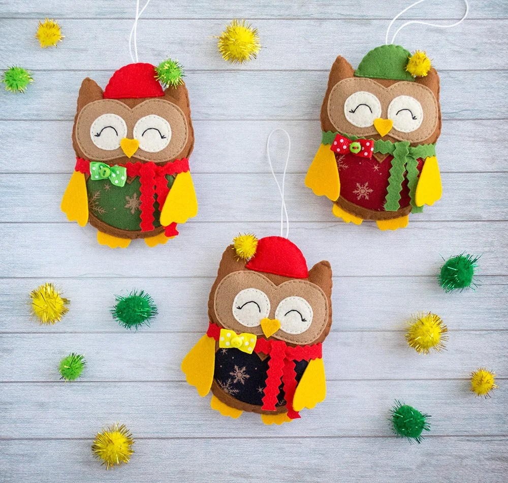Cute Owl Decor Cute Owl Christmas Tree Ornaments Owl Gifts Cute Gifts Owl Decor Coworker Gift For Christmas Wall Decor Xmas Gift Idea Funny Teacher Gift