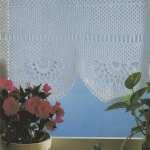 Half Net Curtain Crochet Pattern Pdf Curtain Panel Scallop Edge Window Net Curtain Pattern Vintage Crochet Patterns For The Home Download