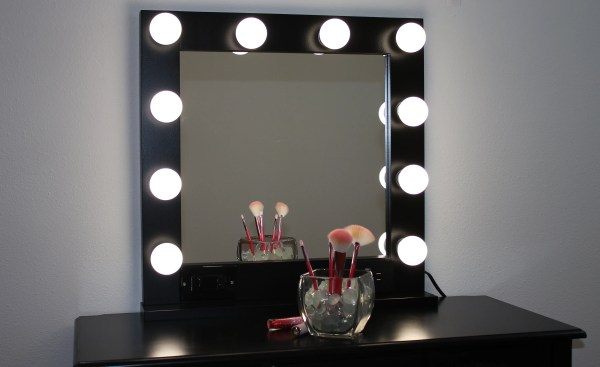 Black 24 X Hollywood Style Lighted Vanity Makeup Mirror