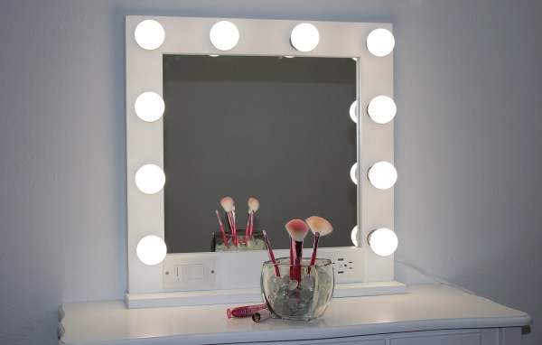 White 24 X Hollywood Style Lighted Vanity Makeup Mirror