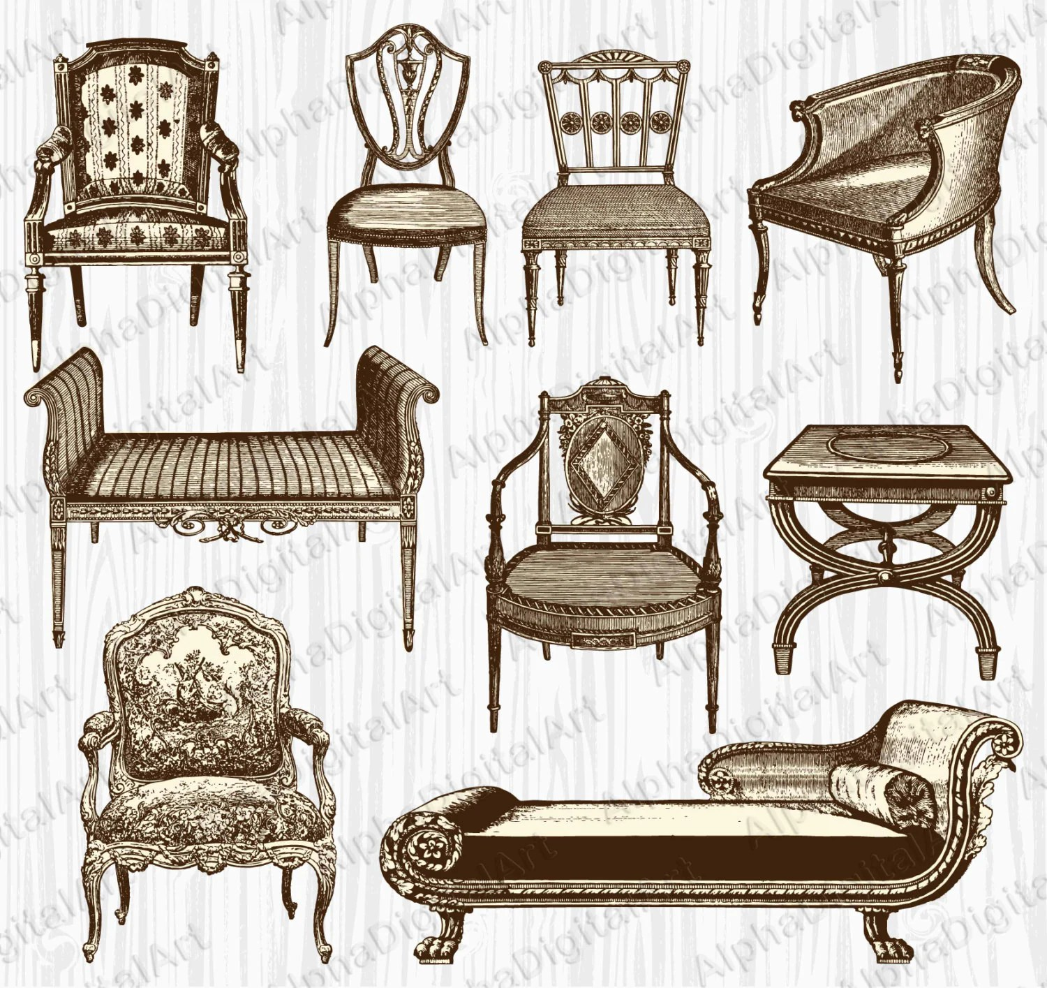 hight resolution of 50 9 vintage furniture clipart
