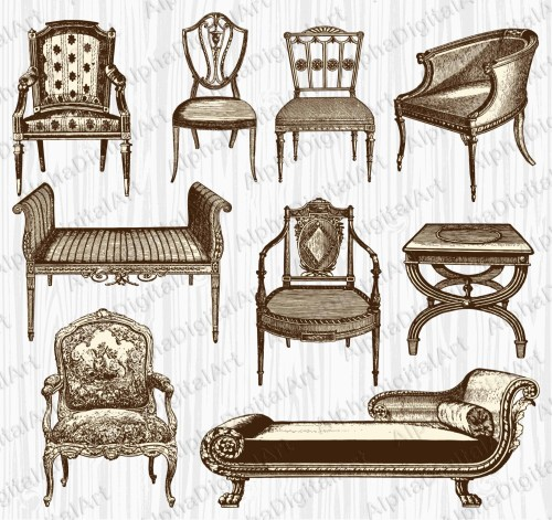 small resolution of 50 9 vintage furniture clipart
