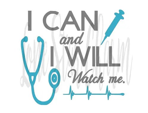 Download I Can and I Will Nursing SVG | Etsy