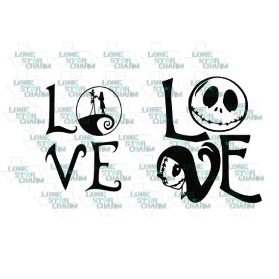 Download LOVE Jack and Sally SVG/DXF Vector File | Etsy