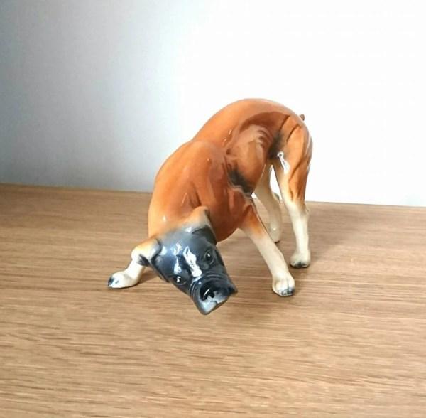 Vintage Dog Figurine Pit Bull Terrier Staffordshire