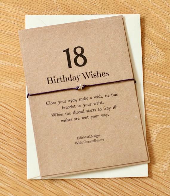 18th Birthday Wish Girls Bracelet 18 Friendship Bracelet Etsy