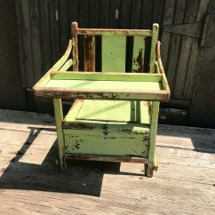 Wooden Potty Chair Chairs On Wheels Uk Etsy Antique Childs Seat Chippy Paint With Tray