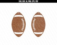 Football Earrings svg Earring svg Faux leather earrings
