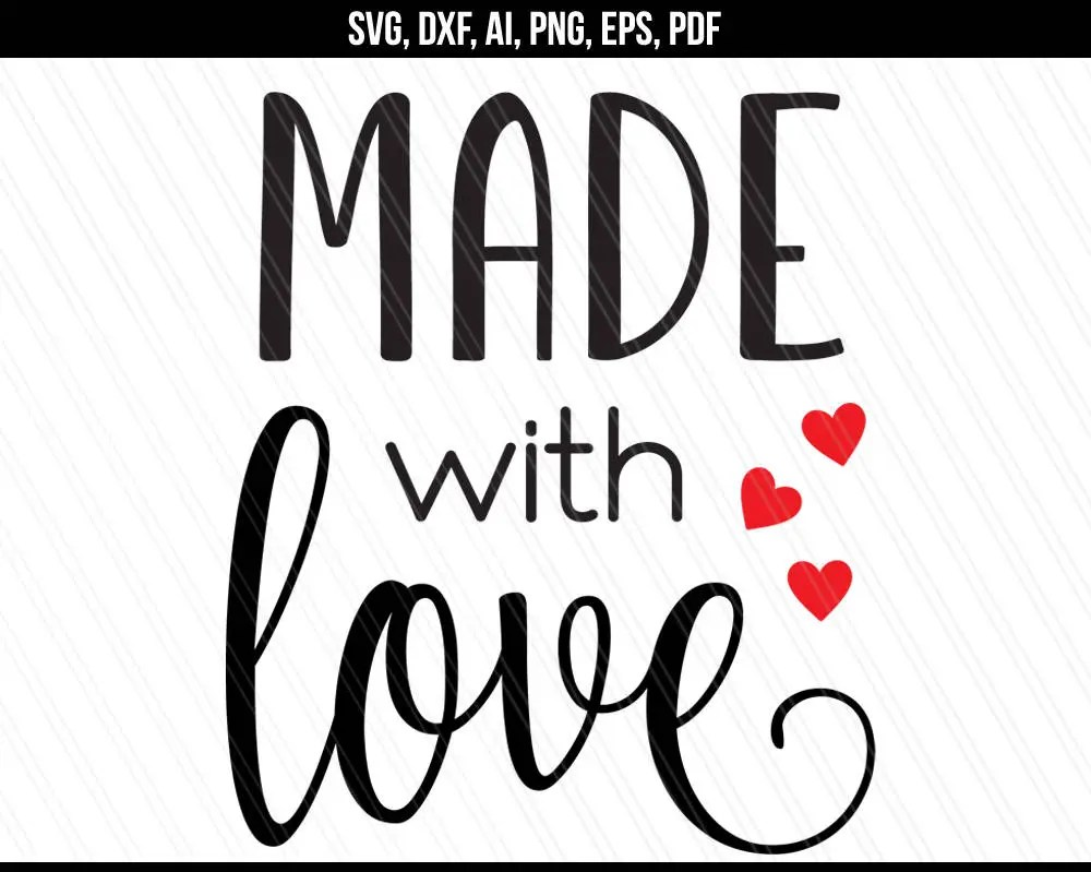 Download Made with love Svg Love Hearts svg dxf Baking crafting svg ...