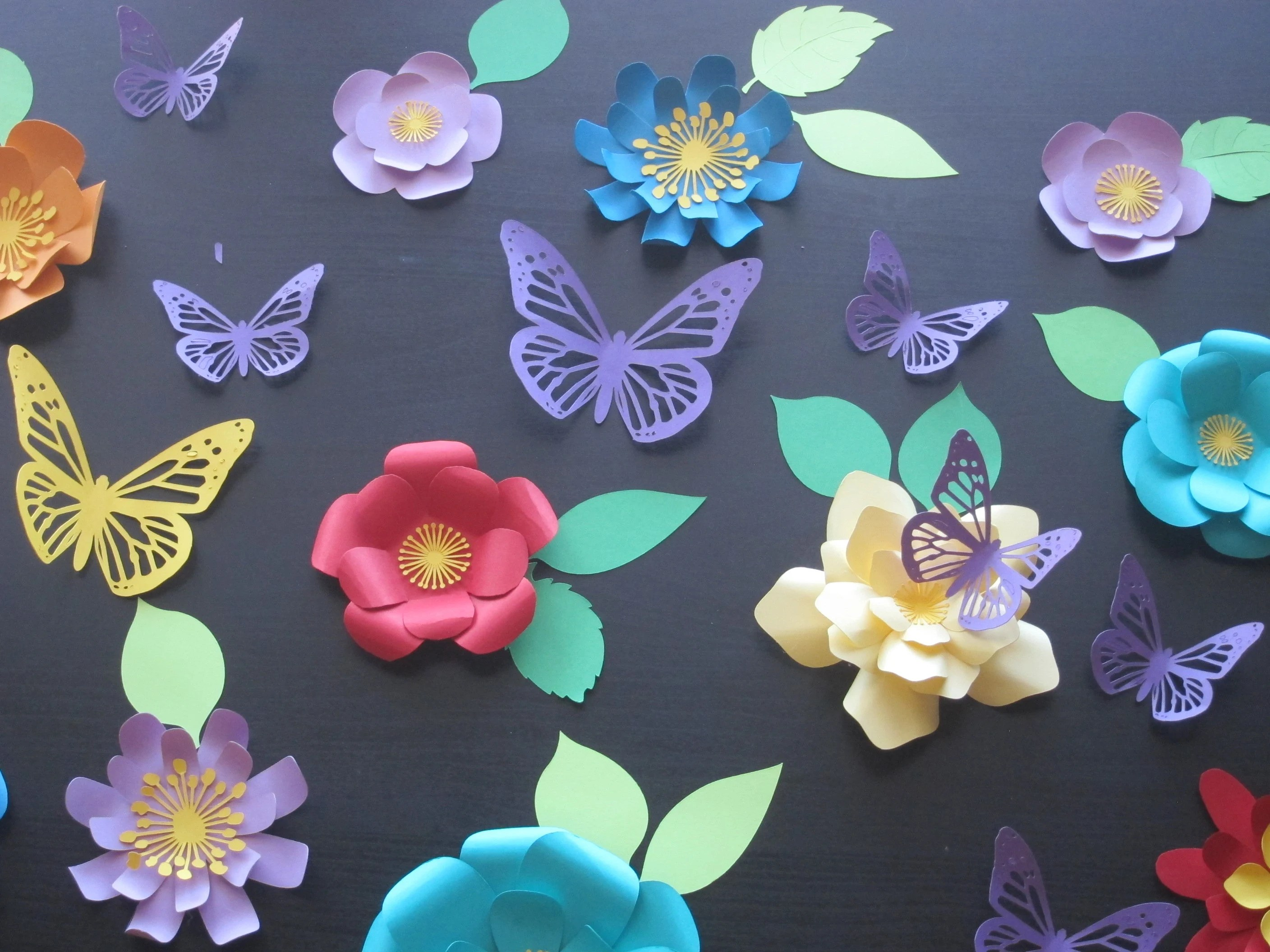 Wall Decoration Using Colored Paper