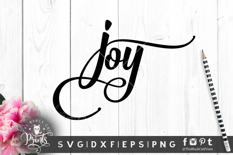 Download Joy svg file Religious svg Vector file Cricut svg cut | Etsy