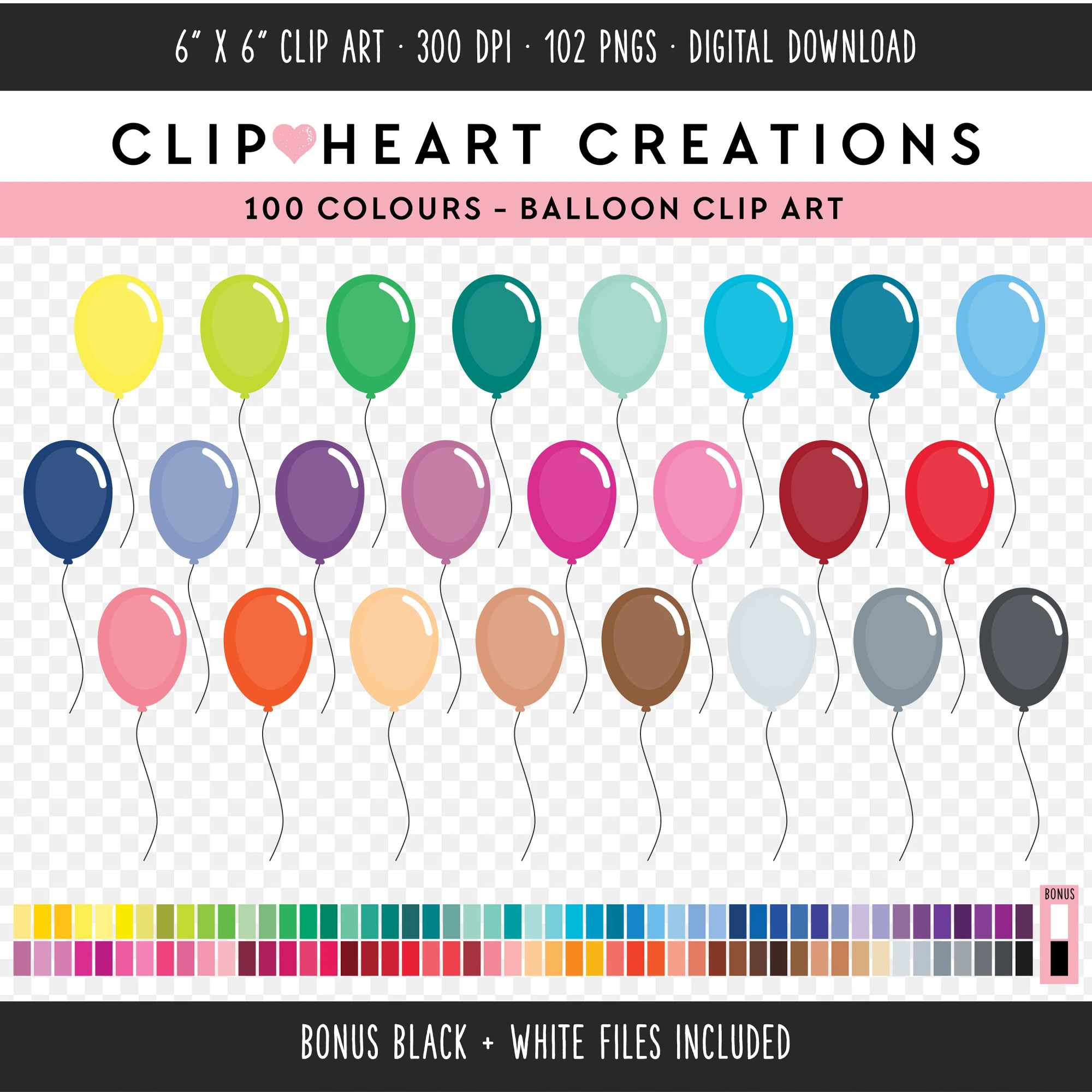 hight resolution of 100 balloon clipart commercial use png digital clip art digital images rainbow digital scrapbooking clip art party balloon balloons