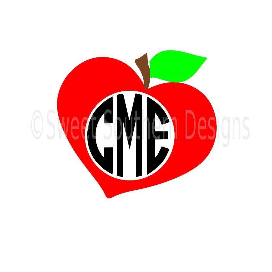 Download Apple heart monogram SVG instant download design for ...