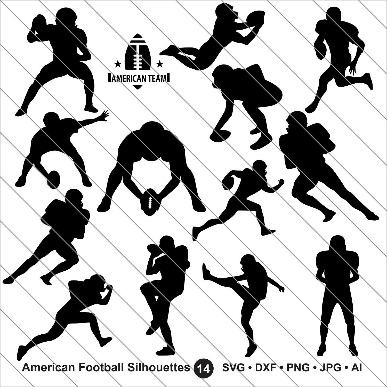 American Football Svg Football Player Clipart Bundle