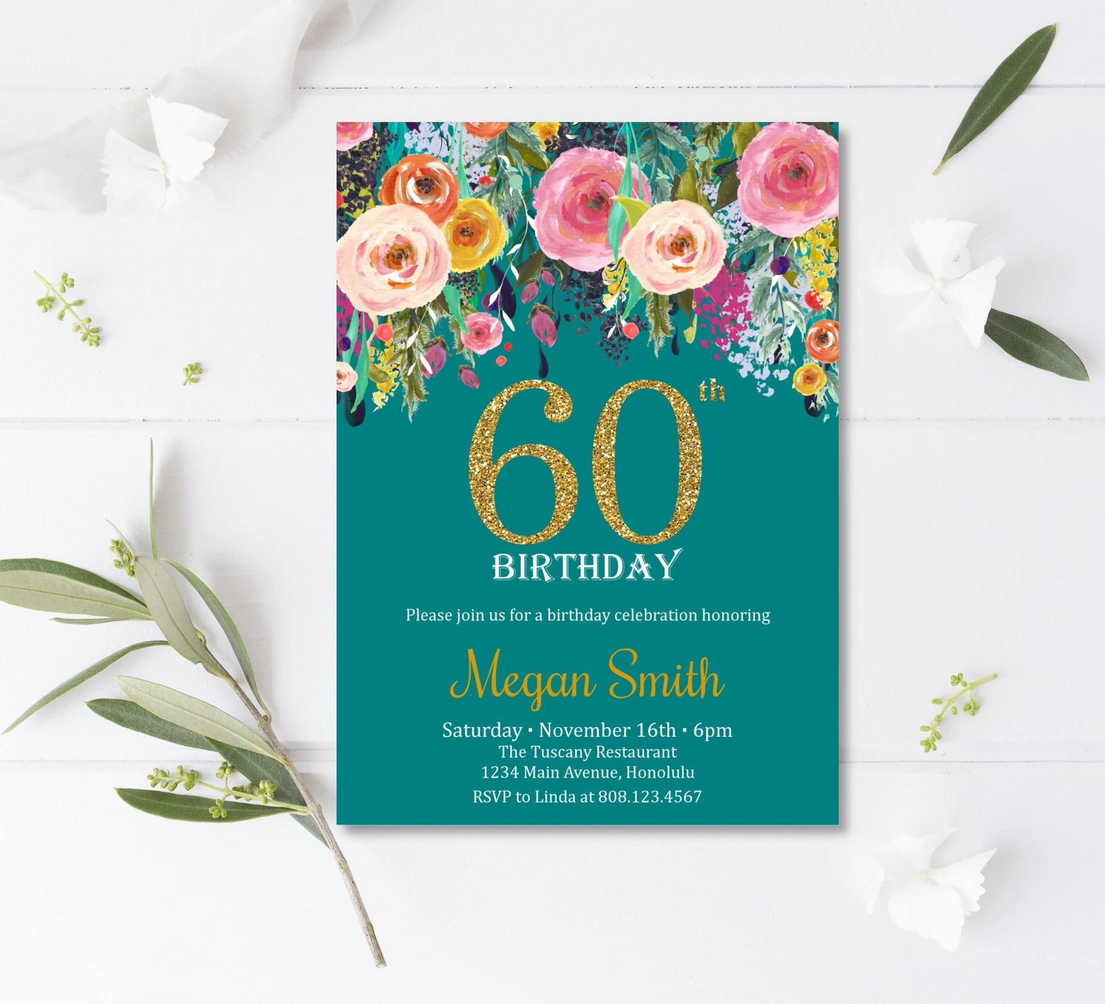 60th birthday invitations surprise