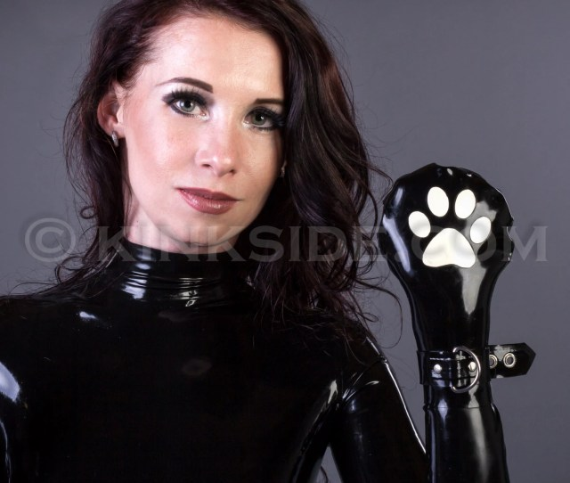 Latex Cat Paw Bondage Mittens