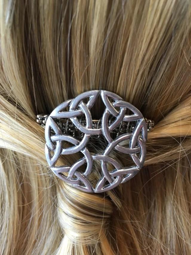 celtic silver tone hair comb- wedding hair accessories, bridal hair accessories, bridesmaid hair accessories, prom hair comb