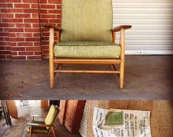 heywood wakefield dogbone chairs parsons dining room chair etsy vintage mid century danish style deep lounge very rare