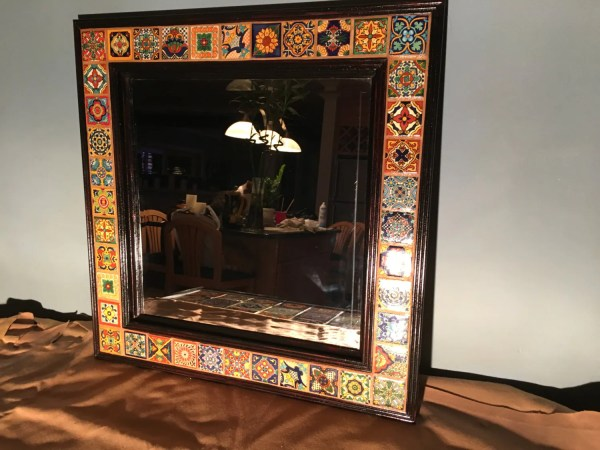 Hand Painted Talavera Tile Decorative Wall Mirror 25 X