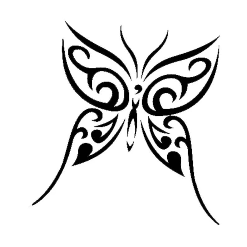 farfalla disegno tattoo tatuaggio mascherine stencil per