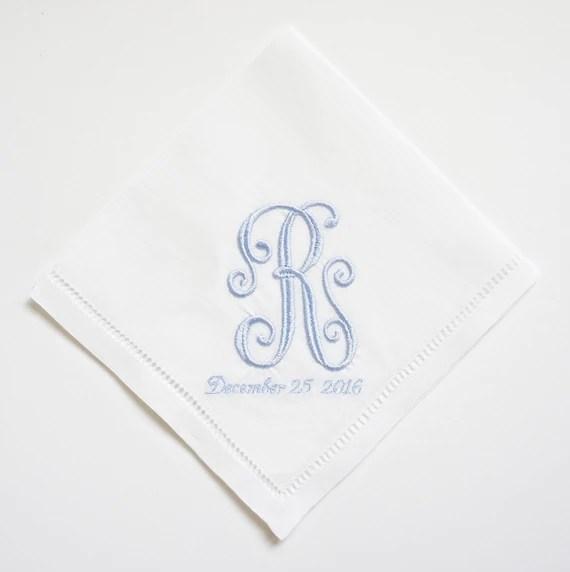 Custom Ladies Embroidered Monogrammed Handkerchiefs Choice