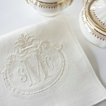 French Antique Frame With Monogram Embroidered Linen Cloth Napkins And Guest Bath Hand Towels Wedding Keepsake For Special Occasions