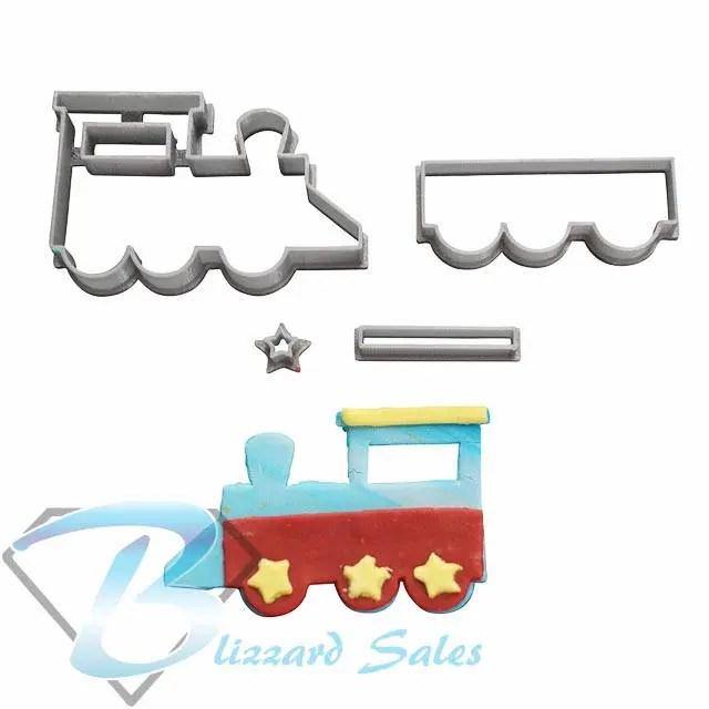 Train Shape Cookie Fondant Cutter 5cm 7cm 10cm Set Cake Etsy