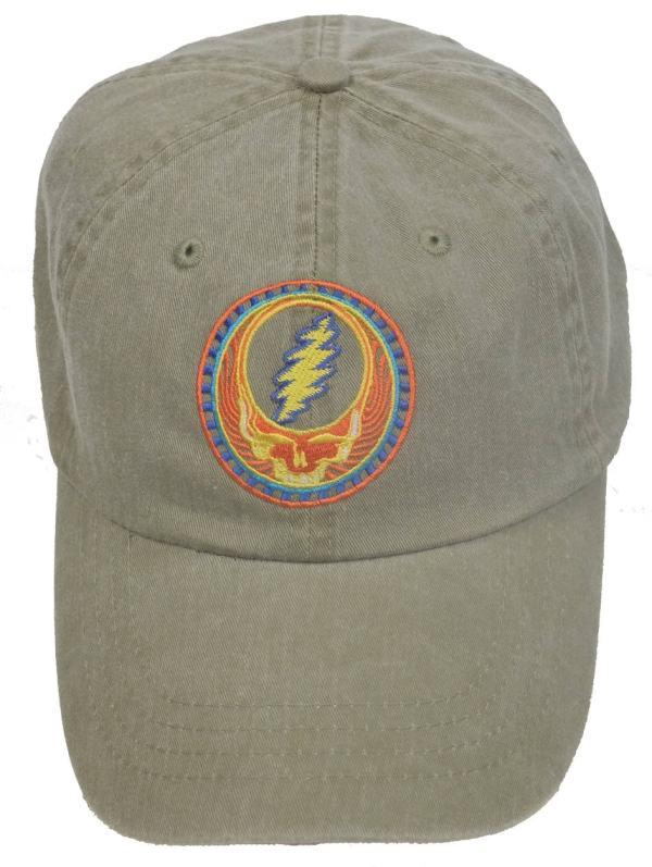 Grateful Dead Hat Orange Sunshine Stealie Embroidered