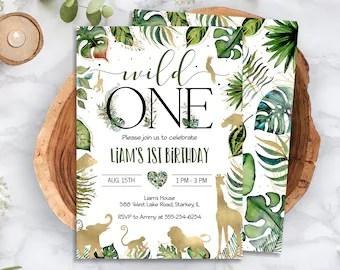 wild one invitation etsy