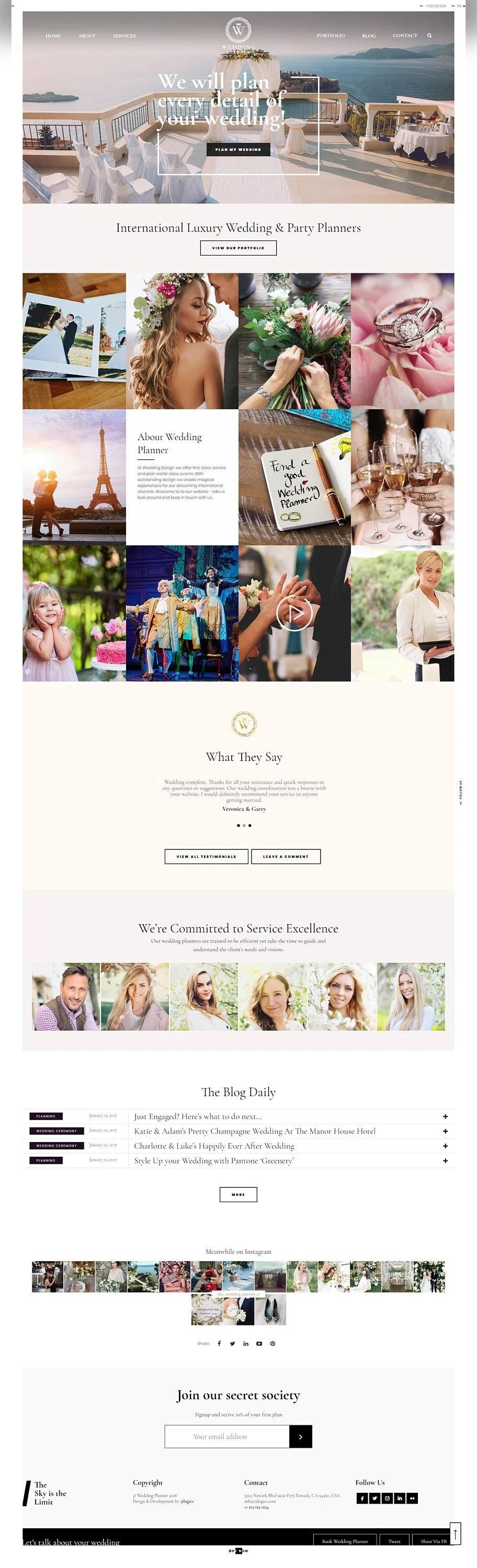 Most couples still send out fancy paper invitations, but even so, it's now popular to direct people to a website for more information and to rsvp. Wedding Website Template WordPress Design Wedding Website Etsy