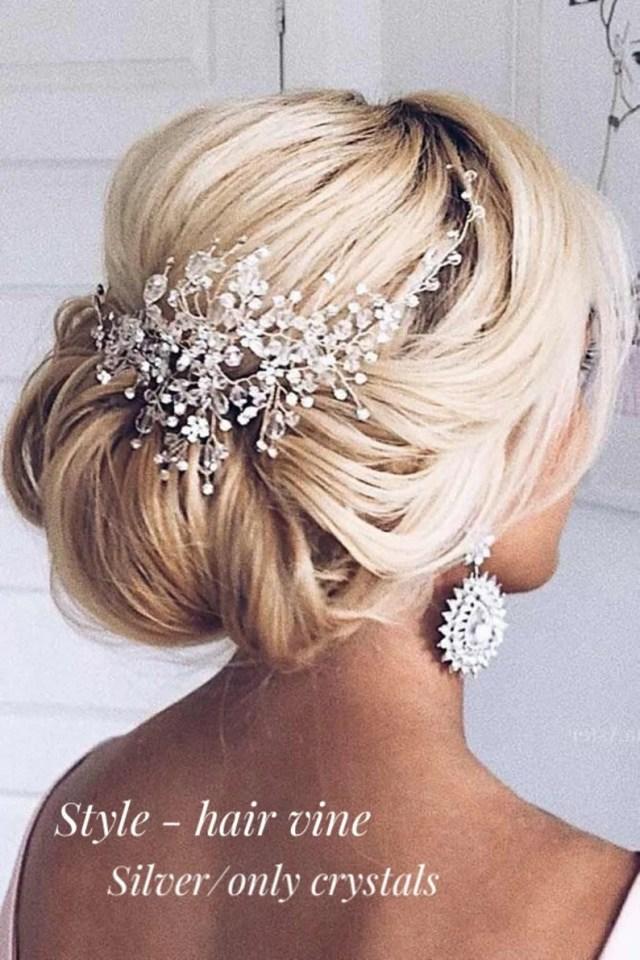 swarovski bridal hair piece bridal hair accessories bridal hair vine bridal hair comb wedding headpiece gold hair pieces wedding hair piece