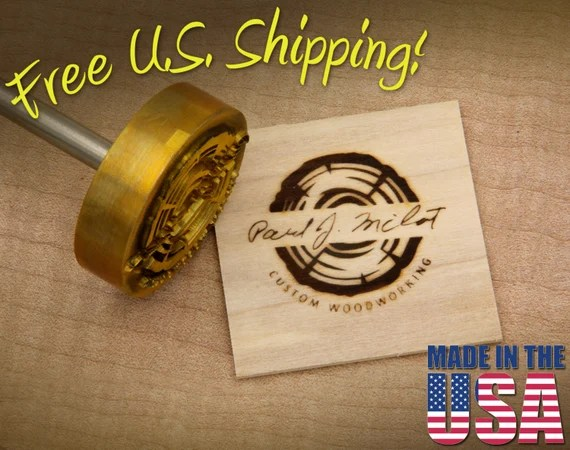 "Branding Iron - 2"" Round Custom Artwork for Wood"