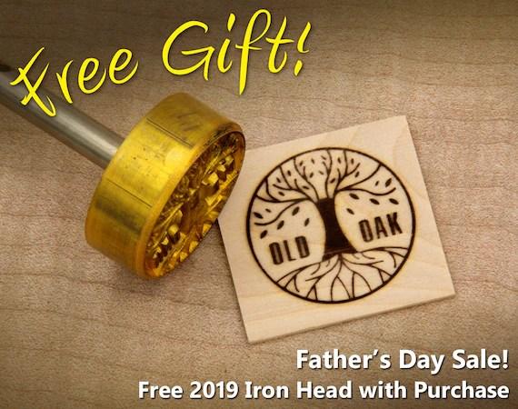 "Branding Iron - 1.5"" Round Custom Designed for Wood"