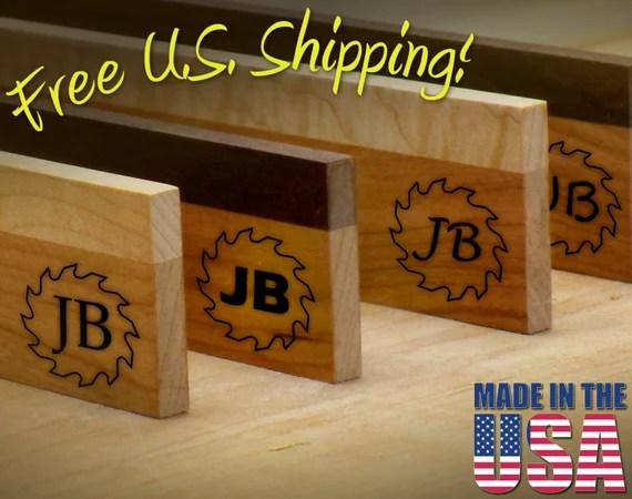 "Branding Iron - 1"" Round Custom Initials with Saw for Wood"