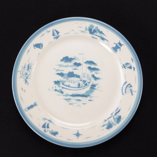 Nautical Theme Air Brushed Pattern Restaurant Ware 9 1 2