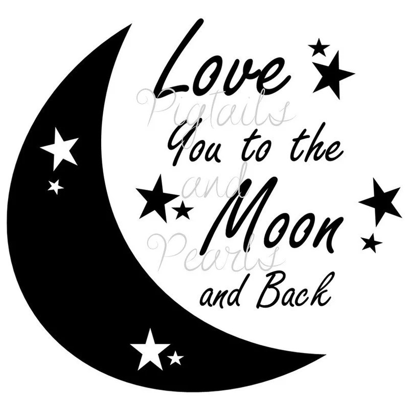 Download Love you to the moon and back svg eps dxf fcm and jpeg | Etsy