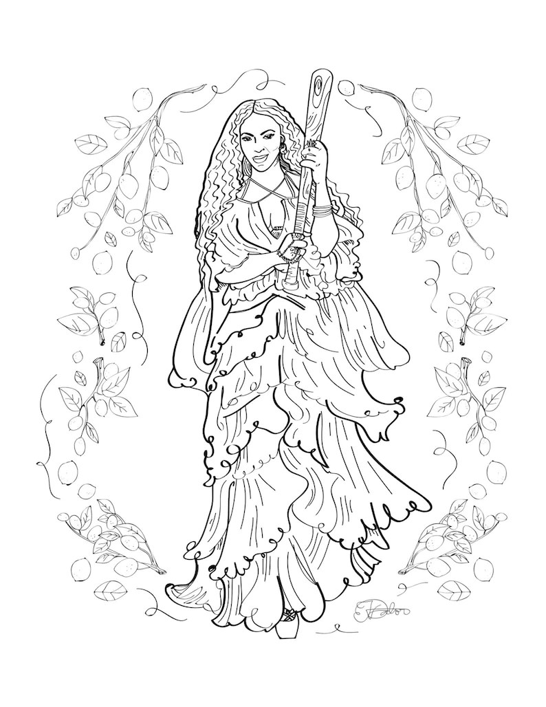 Beyonce Lemonade adult coloring sheet / printable art