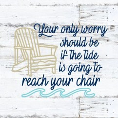 Yeti Chair Accessories Kitchen Table And Sets Under 200 Beach Sticker Etsy Your Only Worry Decal Custom Color Size Car Tumbler Wall Quote Wave Summer Nautical