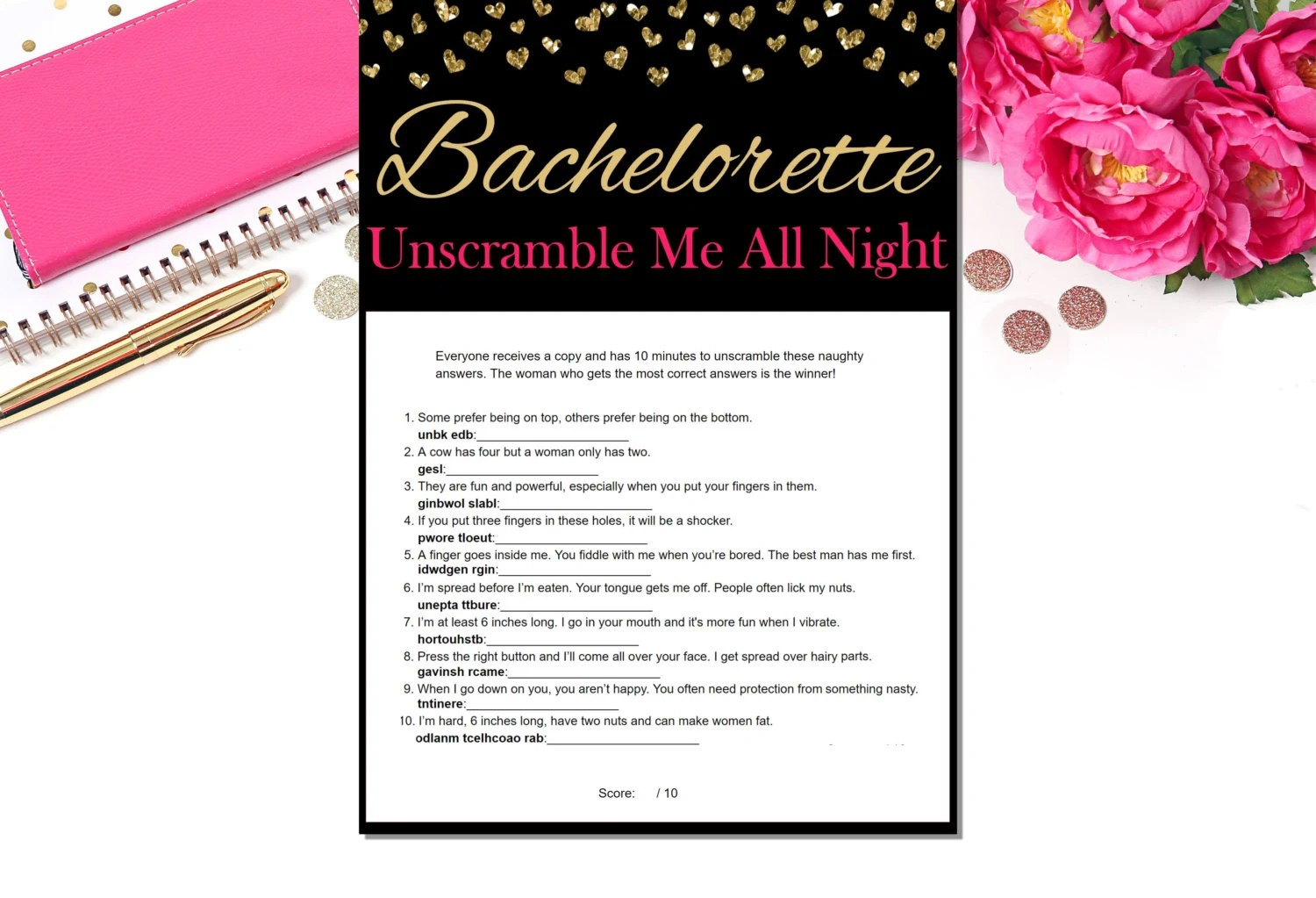 naughty word scramble bachelorette