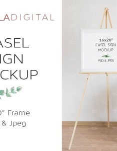 Easel sign mockup wedding seating chart welcome frame stationery psd also etsy rh