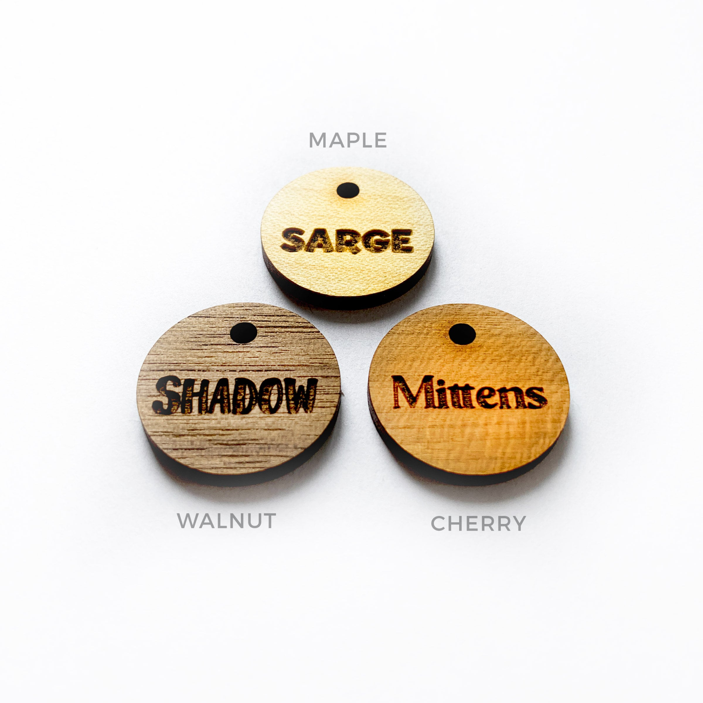 Custom Mirror or Wood Pet Tag Personalized Cat and Dog Pet ID image 4