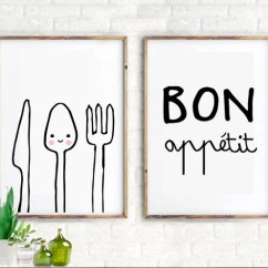 Kitchen Art Prints Delta Savile Stainless 1-handle Pull-down Faucet Modern Etsy Set Of 2 Wall Decor Inspiration Quotes Print Bon Appetit Kids